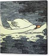 Farbiger Holzschnitt Zwei Schw Ne 1902 Canvas Print