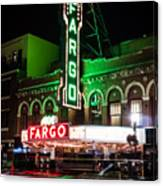 Fargo Nd Theatre At Night Picture Canvas Print