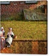 Farm - Farmer - Afternoon Break Canvas Print