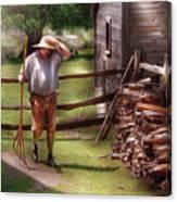 Farm - Farmer - Chores Canvas Print