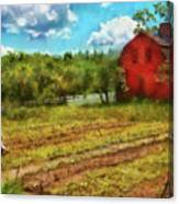 Farm - Farmer - Farm Work  Canvas Print