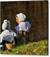 Farm - Farmer - The Young Maidens Canvas Print