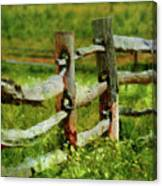 Farm - Fence - The Old Fence Post  Canvas Print