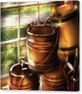 Farm - Pail - A Pile Of Pails Canvas Print