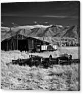 Farm Building In Infrared Canvas Print
