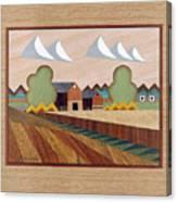 Farm By Ripon-marquetry Canvas Print