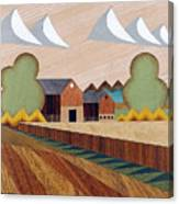 Farm By Ripon -marquetry-image Canvas Print