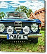 Farm Car - Alpha Gt Canvas Print