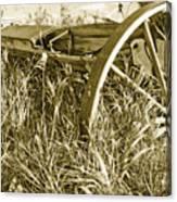 Farm Equipment At Rest Canvas Print