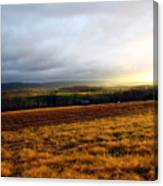 Farm Field Sunset Canvas Print
