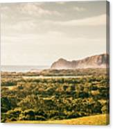 Farm Fields To Seaside Shores Canvas Print