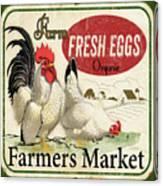 Farm Fresh Eggs-b Canvas Print