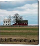 Farm House And Barn Canvas Print