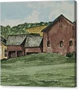 Farm In Summer Canvas Print