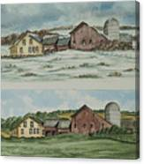 Farm Of Seasons Canvas Print