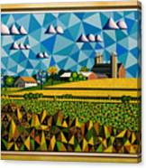 Farm On Hwy 28 Framed  Canvas Print