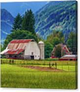 Farm, Randall, Wa Canvas Print