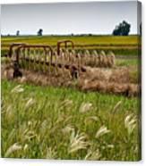 Farm Work Wiind And Rain Canvas Print