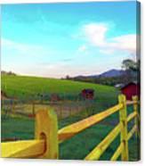 Farm Yard Fence Canvas Print