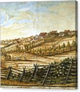 Farmer Plowing Canvas Print
