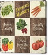 Farmer's Market Patch Canvas Print