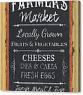 Farmer's Market Signs Canvas Print