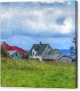 Farmhouse By The Sea Canvas Print