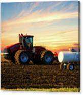 Farming April In The Field On The Case 500 Canvas Print