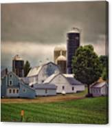 Farming Before The Storm Finger Lakes New York 04 Canvas Print