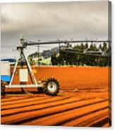 Farming Field Equipment Canvas Print