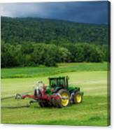 Farming New York State Before The July Storm 02 Canvas Print