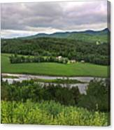 Farmland View Over The Connecticut River  Canvas Print