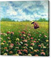 Farmstand Flower Lady Canvas Print
