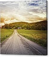 Farmstead Drive Canvas Print