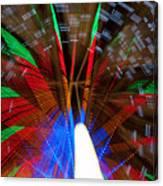 Farris Wheel Light Abstract Canvas Print