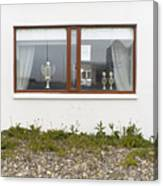 Facade - A Window With A Trophy To Show Canvas Print