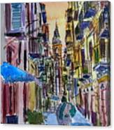 Fascinating Palermo Sicily Italy Street Scene Canvas Print