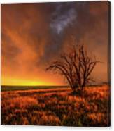 Fascinations - Warm Light And Rumbles Of Thunder In The Oklahoma Panhandle Canvas Print