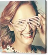 Fashion Eyewear Pin-up Canvas Print