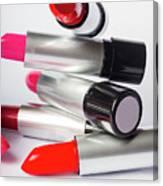 Fashion Model Lipstick Canvas Print