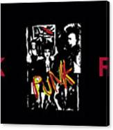 Punk Rock Alternative Style Design Canvas Print