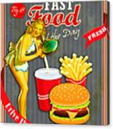Fast Food Of The Day Canvas Print