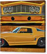 Fast Yellow Canvas Print