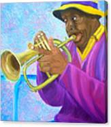 Fat Albert Plays The Trumpet Canvas Print