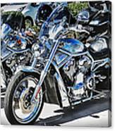 Fat And Glitzy Harleys Canvas Print
