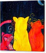 Fat Cats Star Gazing Canvas Print