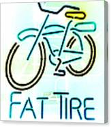 Fat Tire Canvas Print