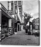 Fat Tony's In Black And White Canvas Print