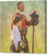 Father And Son Soldiers Canvas Print