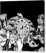 Father Time In Black And White Canvas Print